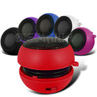 Speaker Rechargeable Red 3.5mm For Numerous Phones Portable