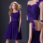 Dinner Formal Bridesmaid Evening Party Prom Gown Sweetheart Short Wedding dress