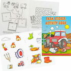 A6 FARM & ANIMALS 36 PAGE ACTIVITY COLOUR STICKER BOOK CHILDREN PARTY BAG FILLER