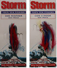 4x BRAND NEW STORM THREE HOOK FEATHER LURES MACKEREL OR COD POST FREE