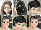 Korea Beauty Bride Pearl Beaded Headdress Connection Headwear For Wedding Party