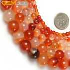 """Natural Gemstone Genuine Red Carnelian Stone Beads For Jewelry Making 15"""""""