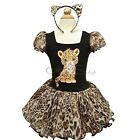 Girls Kid Leopard Halloween Costume Dress Up Ballet Party Tutu+Ear Outfit 2T - 7
