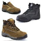New Mens 3 Style Nubuck Leather Safety Work Boots Steel Toe Cap Made in Korea