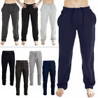 Mens Joggers Fleece Open Hem Jogging Tracksuit Bottoms Sweat Pants Size S XL 5XL