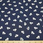 Squirrels Nutty Time on Navy 100% Cotton Fabric
