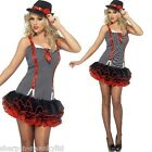 Ladies Sexy 1920s Gangster Gangsta Tutu Hen Do Fancy Dress Costume Outfit 4-14