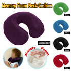 Memory Foam Neck Travel Cushion Pillow - BLUE BLACK GREEN RED EGGPLANT