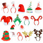 Adults Unisex Festive Christmas Santa Elf Reindeer Xmas Hat/ Headband Accessory