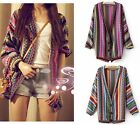 Fashion Women Lady Long Sleeve Colorful Knitting Sweater Cardigan Coat Tops Q459