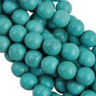 Wholesale 100% Real Natural Turquoise Gemstone Spacer Loose Beads Charms 4-14 mm