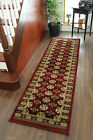 New Burgundy Red Soft Thick Traditional Hall Extra Long Narrow Cheap Runner Rugs