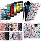 PRINTED LEATHER MAGNETIC FLIP CASE COVER FOR VARIOUS MOBILE PHONES+GUARD+STYLUS