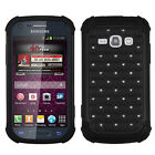 """For Samsung """"Prevail 2"""" HYBRID IMPACT Dazzling Diamond Layered Case Phone Cover"""