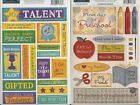 U CHOOSE  Karen Foster MY TALENT PRESCHOOL cardstock Stickers