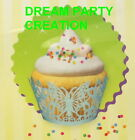 4 BUTTERFLY design laser-cut cupcake wrapper CHOOSE from 6 COLORS