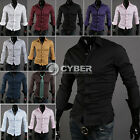 New Korea Men's Casual Slim Fitting Shirts T-shirt Tee Tops 10 Color 4 Size DZ88