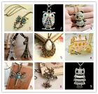 Various Women Vintage Retro Long Chain Pendant Fashion Costume Jewelry Necklace