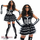 Halloween Deluxe Skeleton Tutu Fancy Dress Costume /Stockings/Gloves Size 8-22