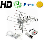 HDTV 1080P Outdoor Amplified Antenna Digital HD TV 150 Mile 360 Rotor UHF VHF FM