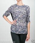 House of Harlow 1960 Long Sleeve Jude Top High-Low in Rosary Print/Black