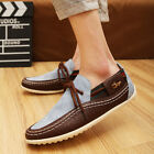 British Men's Suede Slip On Loafer Casual Shoes Moccasins Leisure Driving Shoes