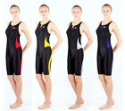 NEW womens ladys racing training swimwear sharkskin  knee swimsuit 0511