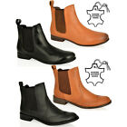 WOMENS LADIES LOW HEEL ANKLE PULL ON CHELSEA GUSSET LEATHER WINTER BOOTS SIZE 9