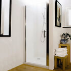 Hinged Reversible Glass Bathroom Shower Door Panel For Enclosure 700mm - 900mm