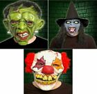 JOKER CLOWN WITCH FRANKENSTEIN HALLOWEEN PARTY SCARY HAIR FACE MASK HORROR LATEX