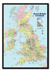 United Kingdom Map Pinboard - UK Cork Board With Pins - Choice Of Frame Colours