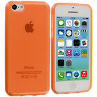 For Apple iPhone 5C Color Clear TPU Transparent Rubber Jelly Skin Case Cover