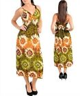 WOMEN'S PLUS SIZE MAXI DRESS SPAGHETTI STRAP OLIVE, BROWNS, IVORY