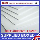 WHITE FOAM BOARD SELF ADHESIVE 4 SIZES FROM A4 - A1 5MM ALL BOXED AND NEW