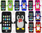 For Apple iPhone 5C Rubber SILICONE Soft Gel Skin Case Phone Cover Penguin