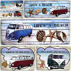 VW Camper Van Wall Plaque in Shabby Chic / Retro design - metal or driftwood