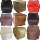 Faux Leather Suede Foot Stool Rest Pouffe Cube Box Seat Bean Bag with Filling