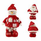 1pc Large Lovely Xmas Santa Claus Snowman Freestanding Father Floor Adjustable