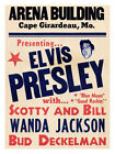 Elvis Concert Poster 1950's Print - Framed And Memo Board Available