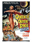 Queen Of Outer Space Zsa Zsa Gabor Movie Print - Framed And Memo Board Available