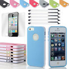 For Apple iPhone 5 5S Rugged Ultra-thin Shockproof Case Cover + Stylus & Film US