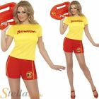 Ladies Baywatch Shorts T-Shirt Beach Patrol Lifeguard Hen Do Fancy Dress Costume