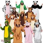 Adult Animal Zoo Onesies Mens Ladies Fancy Dress Costume Pyjamas Jumpsuit