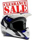 Adult Motocross Helmet Blue Black White dirt bike MX Off Road ATV