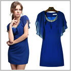 NEW HOT Beautiful Ladies women's Irregular Short Sleeve Elegant Tank Top Dress