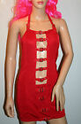 Red Party / Clubbing Buckle Mini Dress Size 10/12