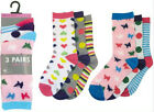 RJM girls patterned sock  3 in a pack  SK334