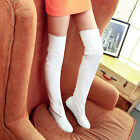 Women's Long Slim Leg Flats Thigh High Over the Knee Boots Dancing Party Shoes