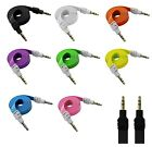 3.5MM MALE TO MALE FLAT NOODLE AUDIO EXTENSION AUX CABLE FOR PC PHONE CAR TABLET
