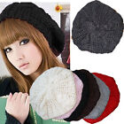 Women Fashion Beret Braided Baggy Beanie Crochet Hat Ski Cap Knit Knitted O